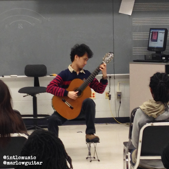 Outreach: Classical Guitarist from Taiwan, Chia-Wei Lin at James Blake High School, Silver Spring, MD